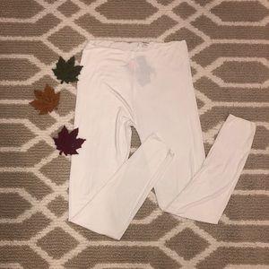 NWT Jockey white microfiber soft thermal pants M